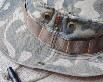 Vintage Boonie Hat GAP Camo Safari Hat Adventure Jungle Hat Women's Climbing Mountaineering Camp Outdoors