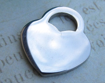 Heart Charm, Stainless Steel Jewelry Pendant, Set of 5 SST Findings 17x15mm heart  pendant charms Heart Charm  Heart (012)