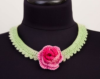 Crochet necklace  crochet bip necklace