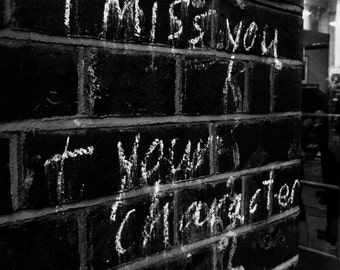 Black and White Photography - Square Print - Graffiti - Street Art - London Photo