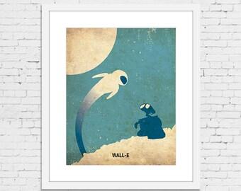 WALL-E Retro Minimalist Poster Print