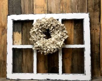 Rustic window-farmhouse window-old window-faux window-mother's day gift