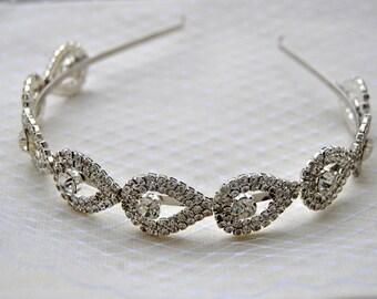 Gorgeous Rhinestone Headband, Great Gatsby Headband,Crystal Wedding Bridal metal Headband Headpiece, 1920s Flapper headband