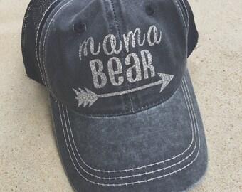 Mama Bear Hat, Trucker Hat, Mesh Back Hat, Mama Accessories, Gift
