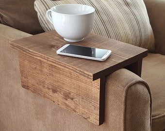 Simply Awesome Couch Sofa Arm Rest Wrap Tray Table for Tablet Food Drinks