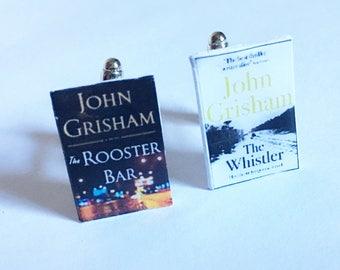 Cufflinks, book cufflinks, John Grisham thrillers