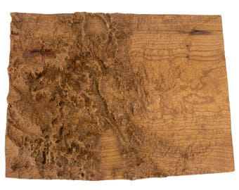 Wooden topographic map of Colorado, 3d map, wood geographic wall art