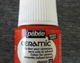 Painting Ceramic glossy - 45ml - Pébéo - orange #23