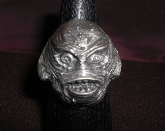 the creature from the black lagoon monster, biker ring  will-size