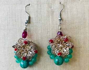 Hand made vintage earrings