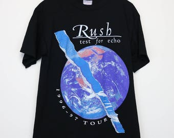 Rush Shirt Vintage tshirt 1997 Test For Echo American Tour Concert tee 1990s Geddy Lee Neil Peart Progressive Hard Rock Band Heavy Metal