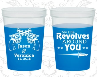 My life revolves around you, Personalized Mood Cups, Wedding Guns, Hashtag Wedding, Blue Mood Cups (565)