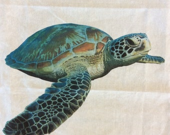 Sea turtle teatowel