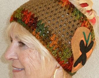 Winter headband for women or teen, creative headbands with unique style, Bohemian headbands, original brown headband, women's fashions