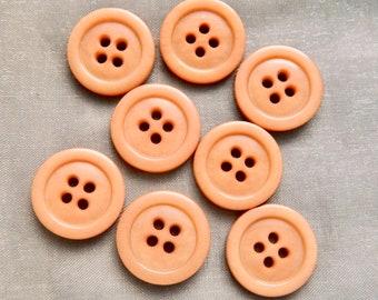 """Vintage  Beige 1930's Four Hole Buttons - 3/4"""""""