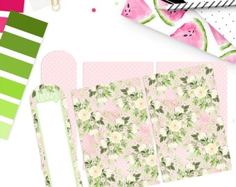 SPRING FLORAL | Laminated Dashboard for Traveler's Notebook | .3 Mil | DB051
