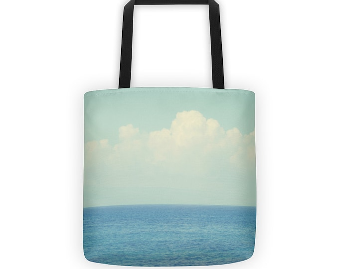 Ombre Blues Ocean Tote for Eco Shopping and School and Sundry