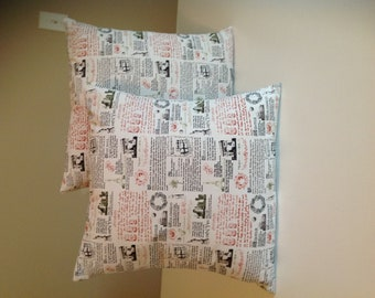 A pair of 18x18 pillow covers