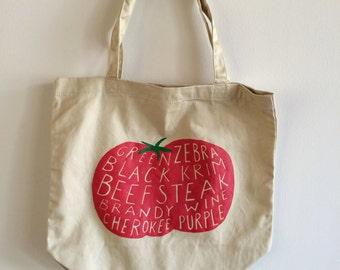 Tomato Tote Bag, Market Tote, Food Bag, Reusable Bag