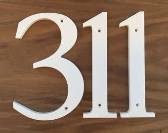 5 inch Traditional House Numbers Letters