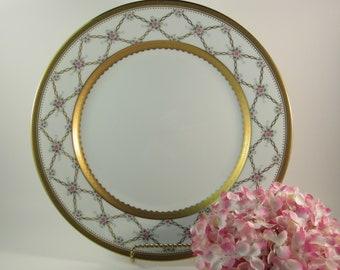 Vintage Faberge' Rose Trellis Dinner Plate Fine China