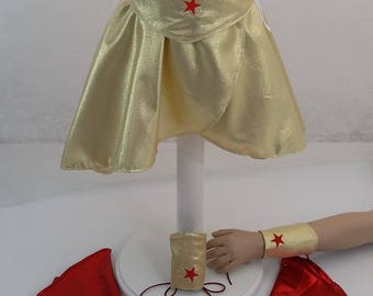 Paper pattern to sew a variety of Super Heroine costume 4-8 years