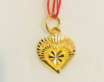 22k solid gold heart pendant  916 Gold