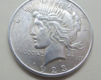 1923 Peace Dollar, Silver Peace Dollar, Collectible Peace Dollar, FREE Shipping, Rare Coins, Collectible Coins