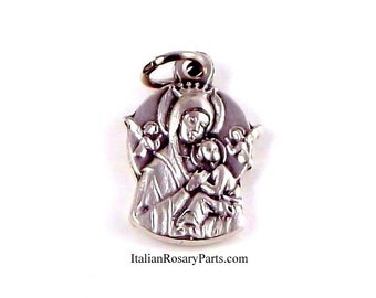 Our Lady of Perpetual Help Bracelet Charm Medal | Italian Rosary Parts
