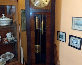 Art deco Gustav Becker grandfather clock 205 x 40 x 35 cm