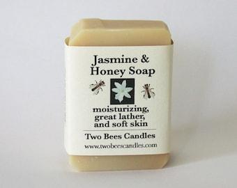 Jasmine Honey Soap, organic ingredients