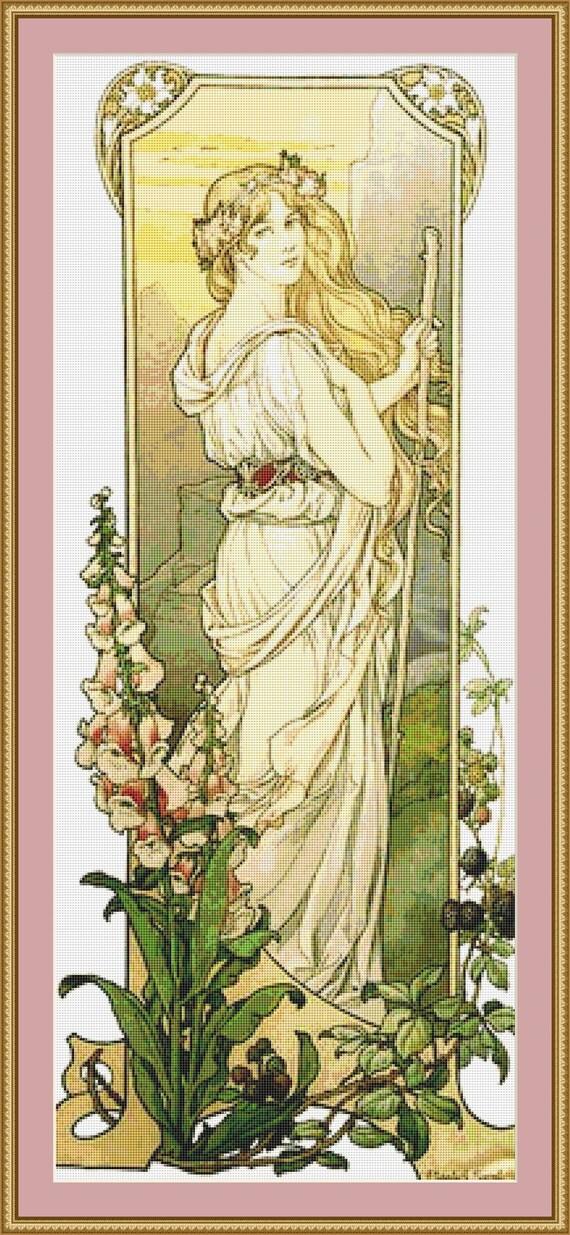 Fleurs Des Montagne Cross Stitch Pattern - Instant Downlad / Digital PDF Files