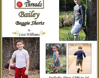 INSTANT DOWNLOAD: Bailey Baggie Shorts - diy Tutorial pdf eBook Pattern - Sizes 12M - 14