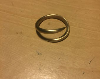 Brass curved ring