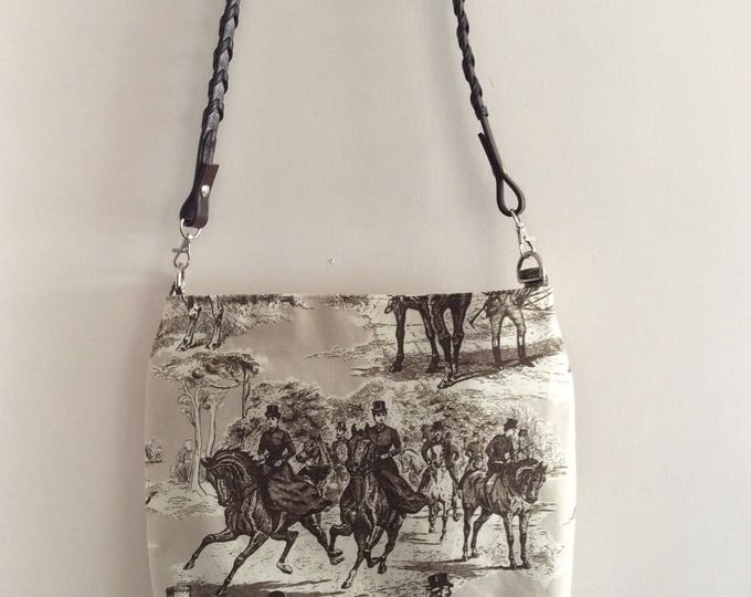 Brown Equestrian Race Horse Tote Purse  Shoulderbag  Handbag Kentucky Derby