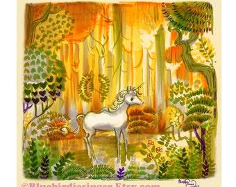 Saint Francis Licorne la dernière Licorne Art Print