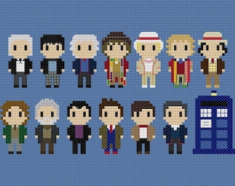 Doctor Who All Doctors Cross Stitch Pattern