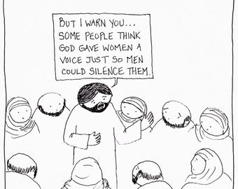 Why Did God Give Women a Voice CARTOON