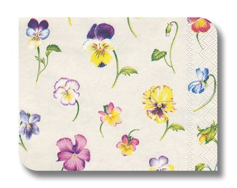 Floral paper napkin serviette for decoupage (cocktail)  x 1 Violetta . No 1177
