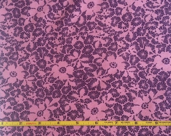 """NEW Abstract Group Purple and Pink Floral on  cotton lycra 95/5 58"""" wide sold per yard"""
