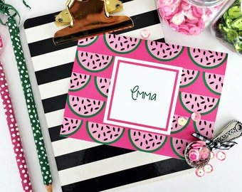 Watermelon Note Cards, watermelon Stationery, watermelon, Monogrammed Stationery, Personalized Note Cards, Personalized Stationery