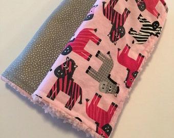 Zebra Burp Cloth Set