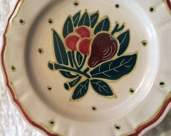 Italian dessert plates hand painted 1940s excellent