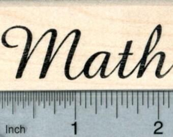 Math Rubber Stamp E33122 Wood Mounted