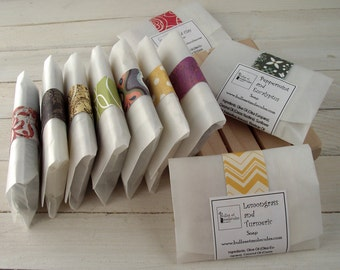 Soap Samples - Wedding Favors - Mini Soap - Handmade Soap - All Natural Cold Process Soaps - with Essential Oils - Choose 5 Samples