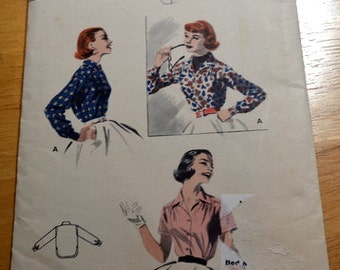 Vintage Butterick 7491, Misses' Shirt pattern, size 16, bust 34.