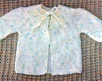Easy Infant Sweater - - Knit ePattern PDF