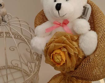 Plush Bouquet teddy bear gift for Valentine's Day Candy bouquet Candy Arrangement