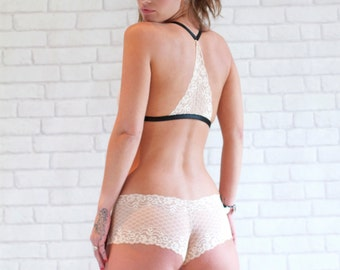 Hannah Cream Lace French Knicker
