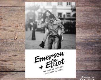 Save the Date Postcard, Save-the-Date Card, Calendar, Photo, DIY Printable, Digital File – Emerson